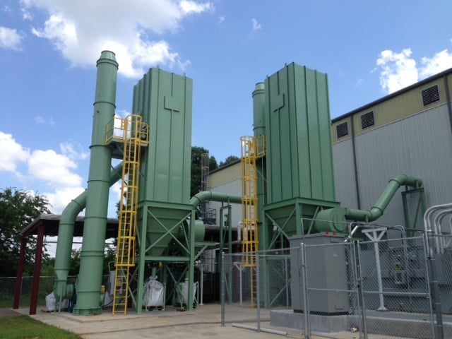 Baghouse dust collector for an automotive plant
