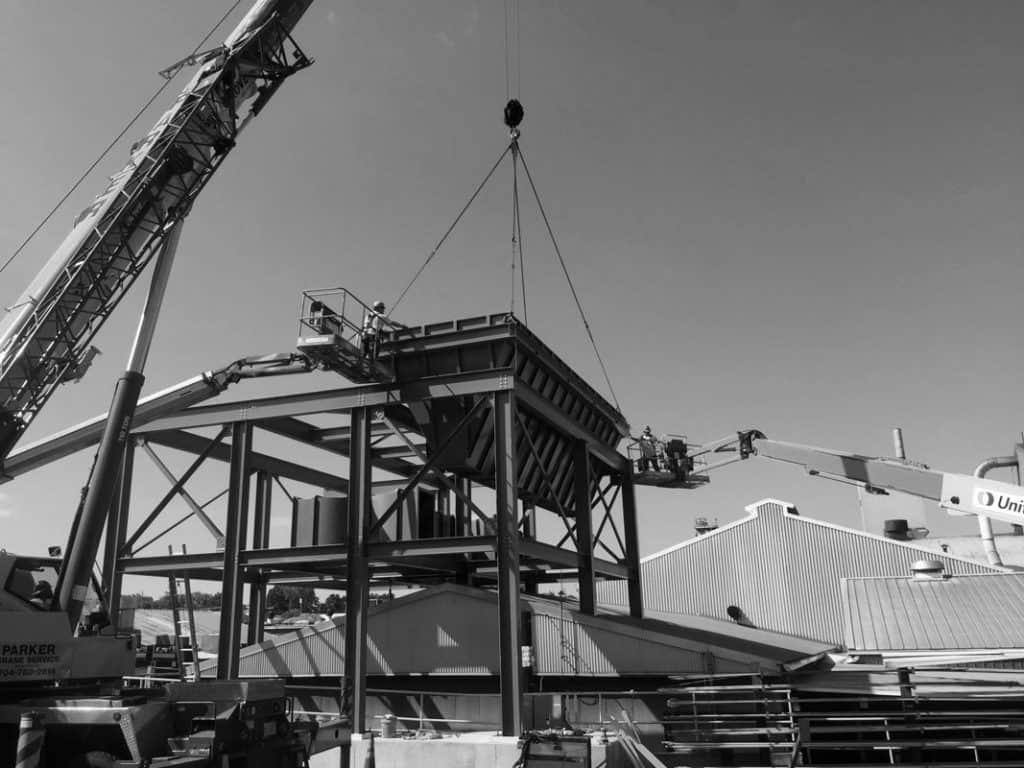 Installing a baghouse dust collector