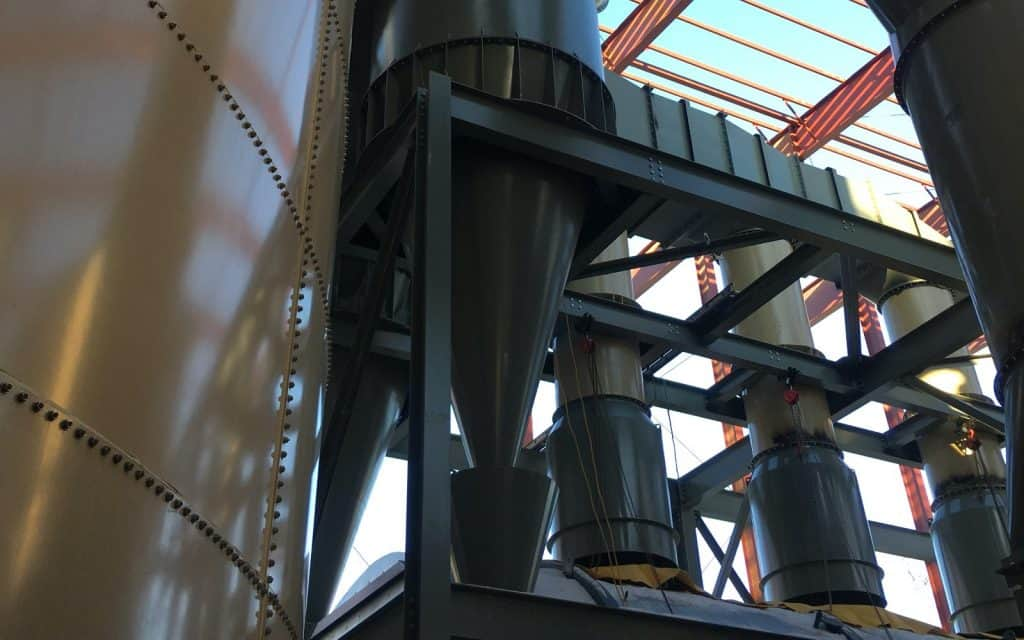 Cyclone dust collector used in mining