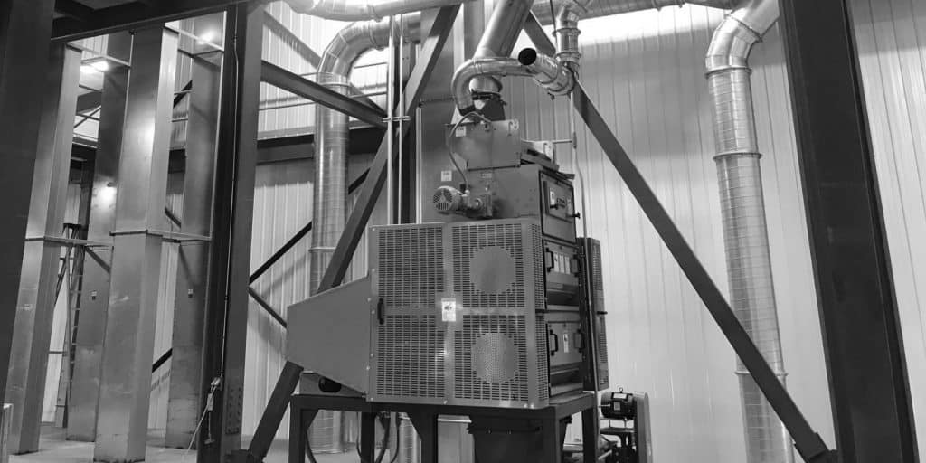 Industrial ventilation for grain and ethanol