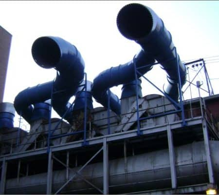 Structural steel support for ductwork
